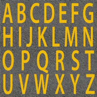 Thermoplastic Yellow Letters